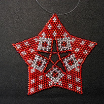 Starfish Dots Red/Silver
