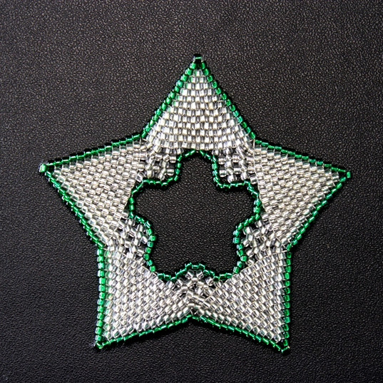Star Regular Outline Green