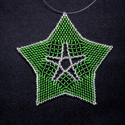 Starfish Outline Green