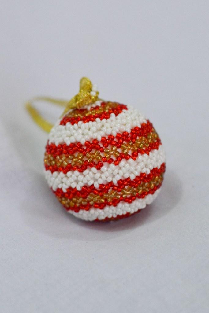 Gold, Red, White Stripe