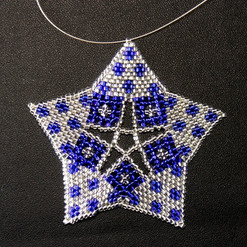 Starfish Dots Blue