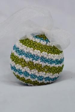 Lime & Aqua Stripe