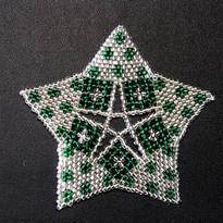 Starfish Dots Silver Green