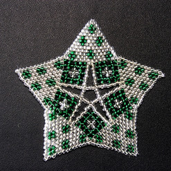 Starfish Dots Silver Green