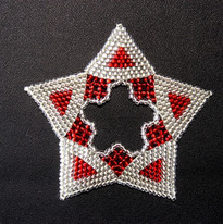 Star Regular Triangle Red