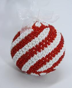 Swirl Red & White
