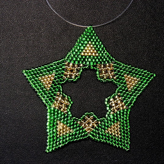Star Regular Triangle Green Gold