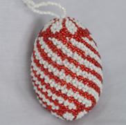 Red & White Swirl