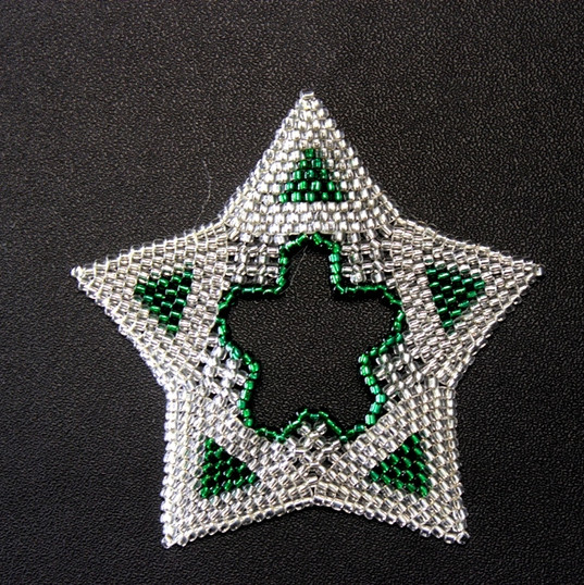 Star Regular Triangle Silver/Green