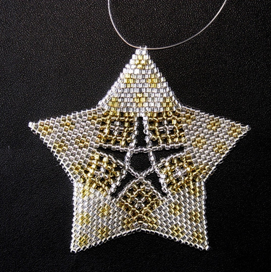 Starfish Dots Silver/Gold