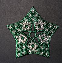 Starfish Dots Green Silver
