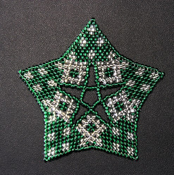 Starfish Dots Green Silver