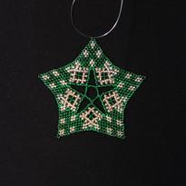 Starfish Dots Green Gold