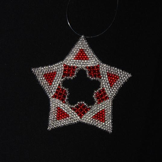 Star Regular Triangle -Red