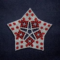 Starfish Dots Silver/Red