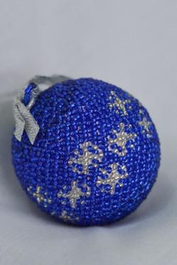 Blue & Silver Snowflake