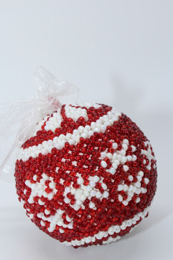 Cranberry Snowflake with Flower