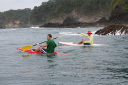two paddlers