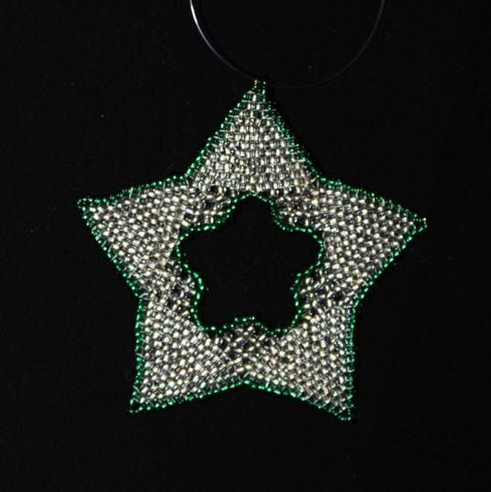 Star Regular Outline Green