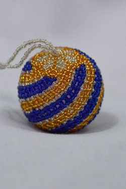 Blue & Gold Swirl