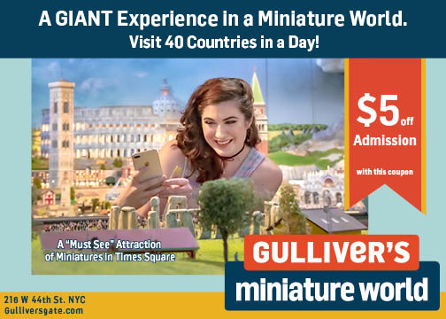 Gulliver's Miniature World Postcard
