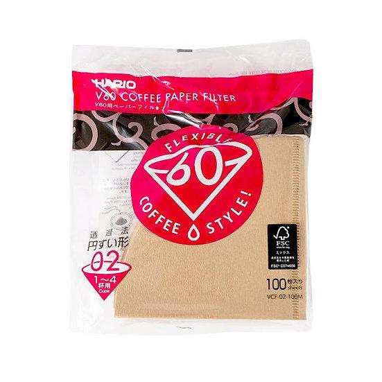 Hario V60-02 (Brown) - 100 pack
