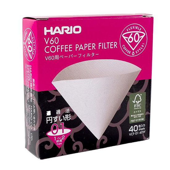 Hario V60-02 Brown - 40 pack