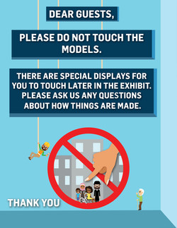 Gulliver's Please Do Not Touch Sign