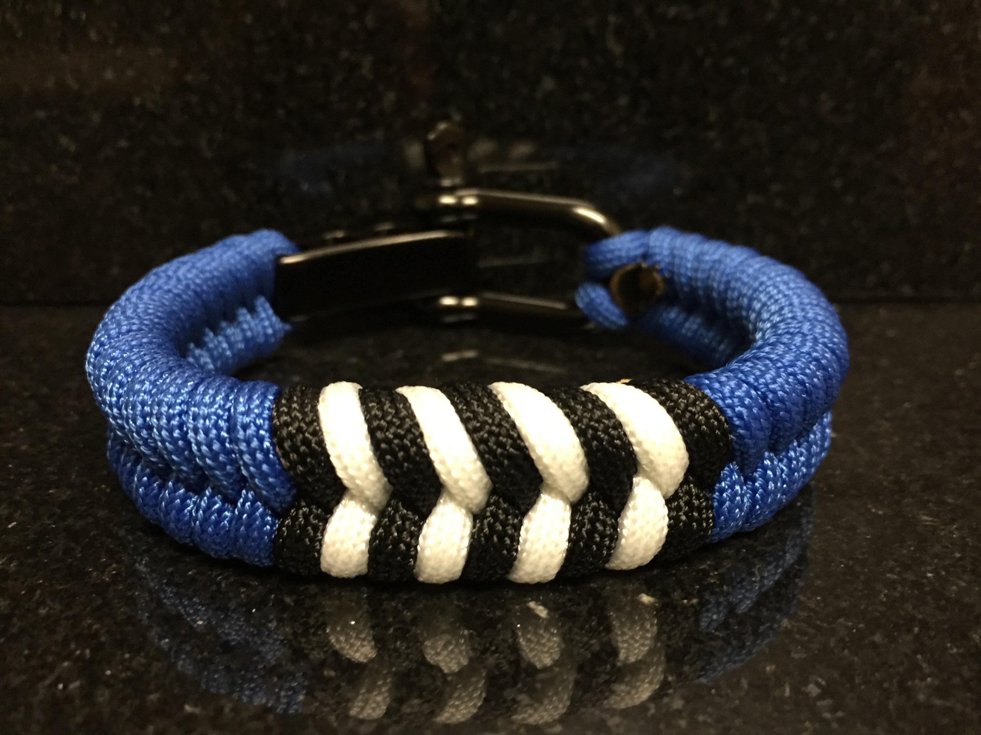 Brazilian Jiu Jitsu Blue Belt Rank Paracord Bracelet