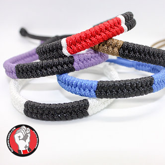 Adjustable Brazilian Jiu Jitsu Ranked Paracord Wristbands