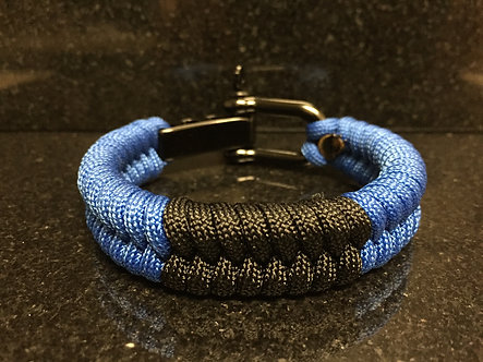 Brazilian Jiu Jitsu Blue Belt Rank Paracord Bracelet.