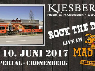 "Sa, 10.06.2017   KIESBERCH live: ""ROCK the DOG"" - Wuppertal-Cronenberg"