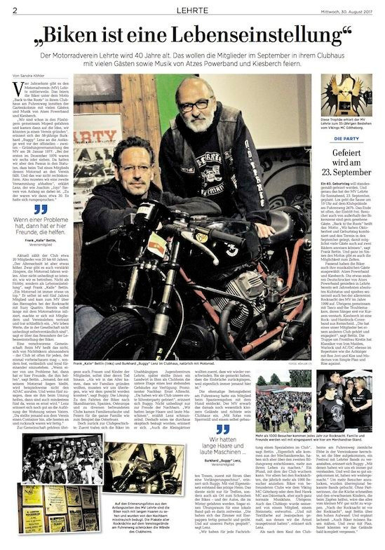 40 Jahre MV Lehrte - live mit KIESBERCH