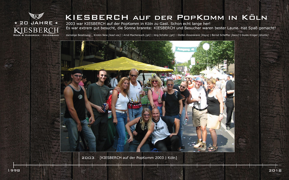 KIESBERCH | auf der PopKomm 2003, Köln