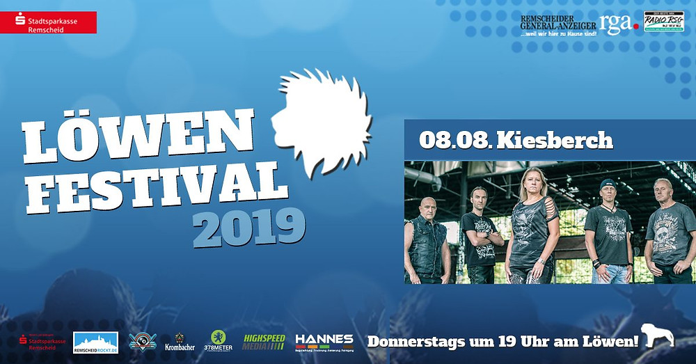 "KIESBERCH rockt das ""LÖWEN FESTIVAL 2019"" in Remscheid"