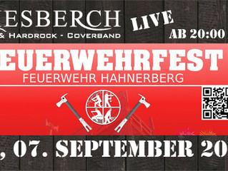 "Sa, 07.09.2019 | KIESBERCH live beim ""Feuerwehrfest FW Hahnerberg"""