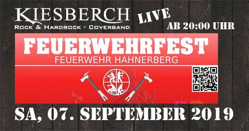 """KIESBERCH live beim """"Feuerwehrfest FW Hahnerberg"""""""