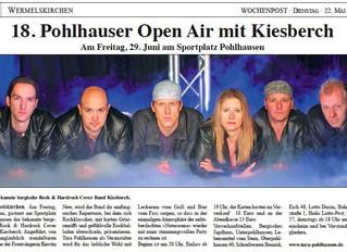 18. Pohlhausener Open Air mit KIESBERCH [Wochenpost WK]