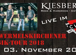 """Sa, 03.11.2018   KIESBERCH live:  """"11. Wermelskirchener Musik Tour 2018"""", CVJM WK"""