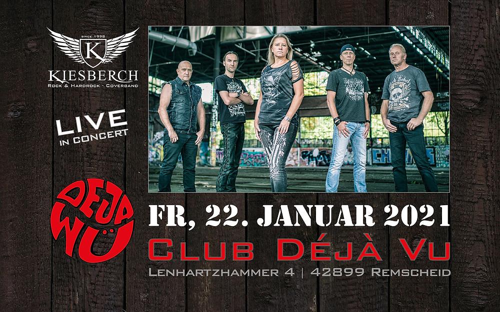 "Fr, 22.01.2021 | KIESBERCH live im ""Club Déjà Vu"""
