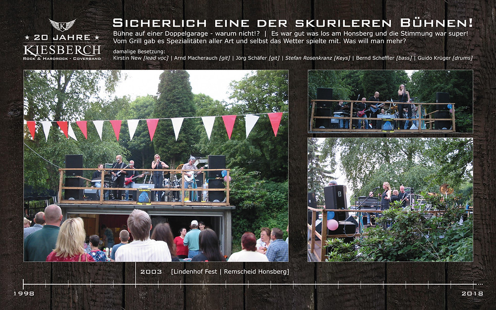 KIESBERCH   Lindenhof Fest 2003, RS Honsberg