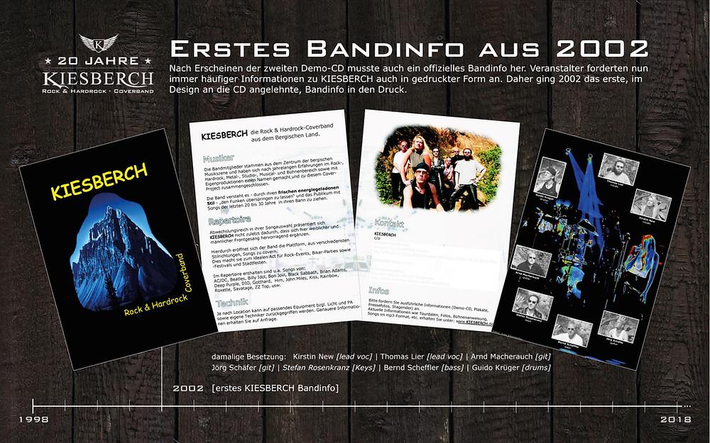 KIESBERCH | erstes Bandinfo aus 2002
