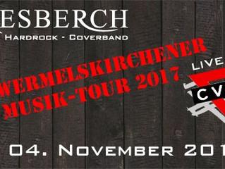 """Sa, 04.11.2017   KIESBERCH live:  """"10. Wermelskirchener Musik Tour 2017"""", CVJM WK"""