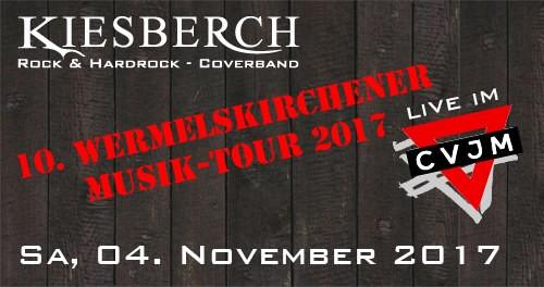 "KIESBERCH live: ""10. Wermelskirchener Musik Tour 2017"", CVJM WK"