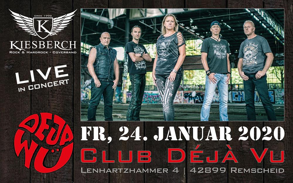 "Fr, 24.01.2020 | KIESBERCH live im ""Club Déjà Vu"""