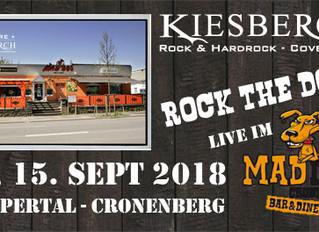 "Sa, 15.09.2018   KIESBERCH live: ""ROCK the DOG"" - Wuppertal-Cronenberg"