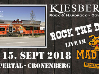 "Sa, 15.09.2018 | KIESBERCH live: ""ROCK the DOG"" - Wuppertal-Cronenberg"