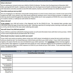 NYCDOE Covid19 Consent Form