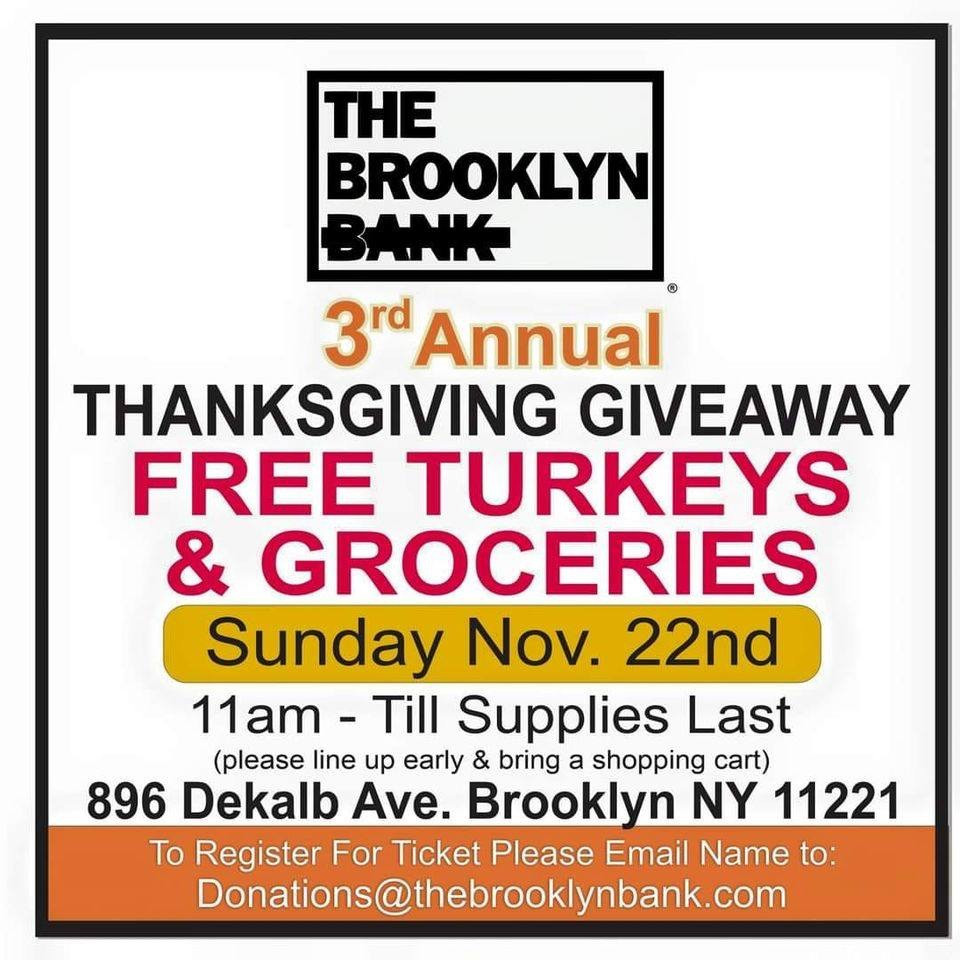 Brooklyn Bank Turkey and Groceries
