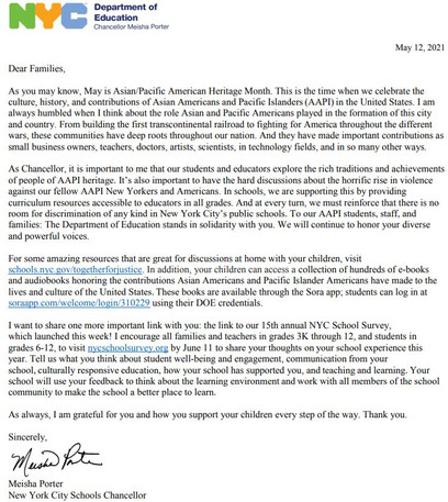 Chancellor Letter May12